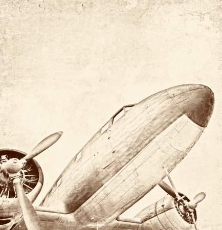 Old aircraft, vintage background Stock Photo - 20959851