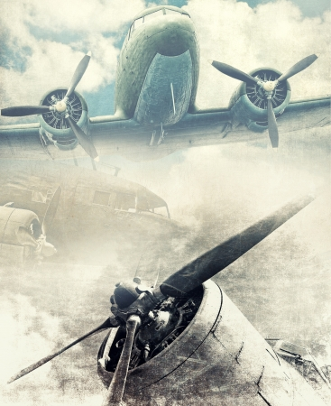 Retro aviation, grunge background Stock Photo - 20959852