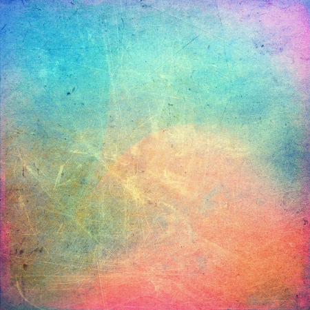 Colorful scratched vintage background Stock Photo