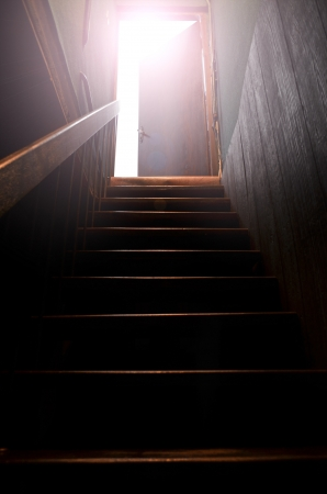 Staircase and sunlight photo