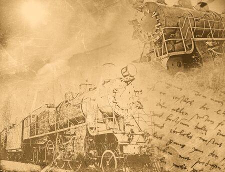 Vintage transportation background Stock Photo - 20959874