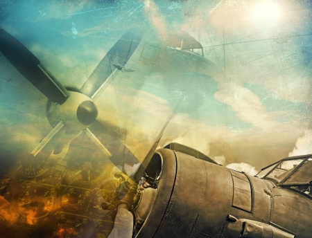 Retro aviation, grunge background Stock Photo - 20959875