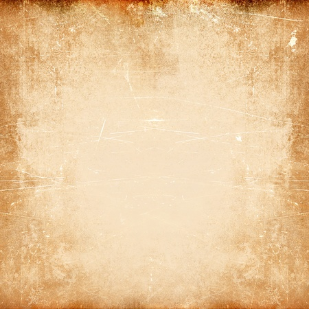 Scratched texture, brown grunge frame Stock Photo - 20952693