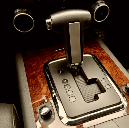 car detail: Automatic transmission gear shift