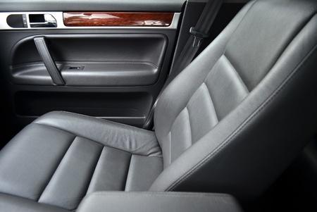 car seat: Seggiolino auto pelle, close up