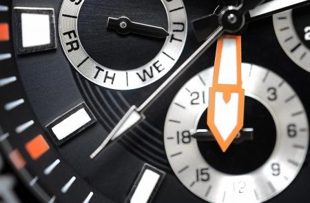 chronograph: Watch detail, chronograph close up Stock Photo