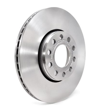 spare: Brake disc on white background