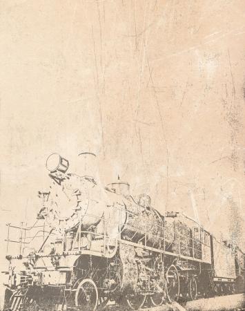 Old steam train vintage background photo