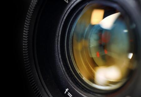 photo camera: Obiettivo della fotocamera vicino