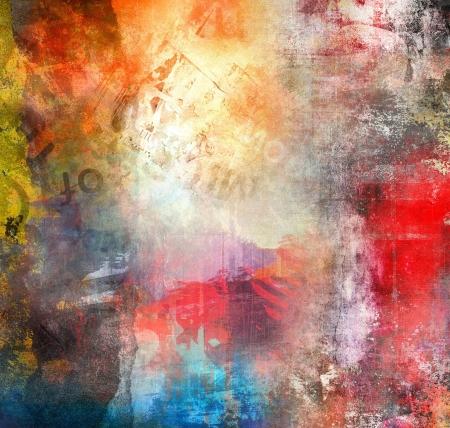 grafitis: Grunge fondo a todo color