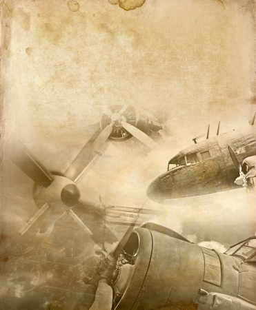 Retro aviation background Stock Photo - 20952756