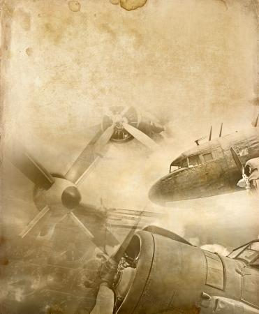ww2: Retro aviation background