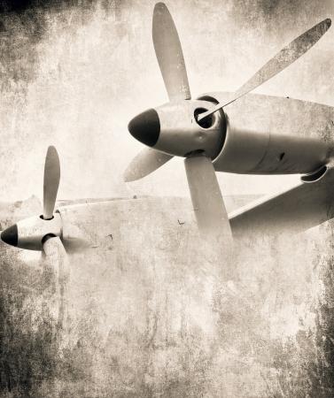 ww2: Aircraft engine, Aviation grunge background