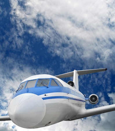 Passenger airplane in the sky Stock Photo - 20952759