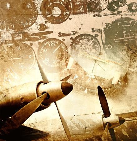 ww2: Aviation grunge background