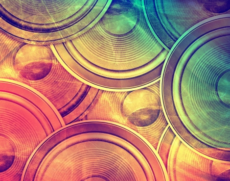 seventies: Vintage music colorful background