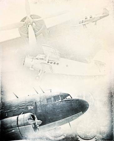 Retro aviation, grunge background Stock Photo - 20952770