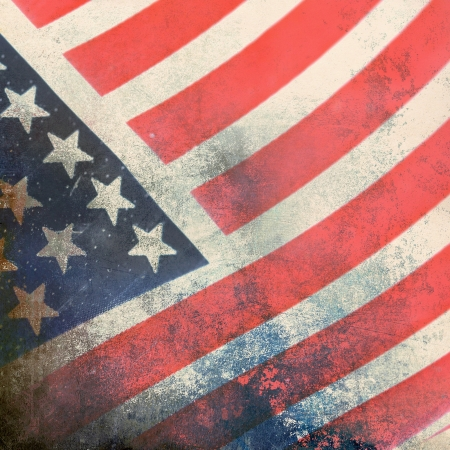 American flag, grunge background Stock Photo - 20952776