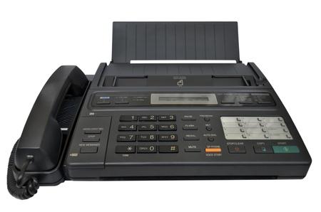 Fax machine on white background Stock Photo - 21086447