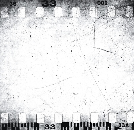 Scratched filmstrip texture photo