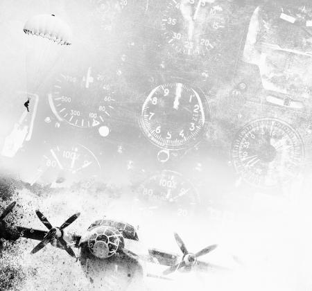 Aviation-Grunge-Hintergrund