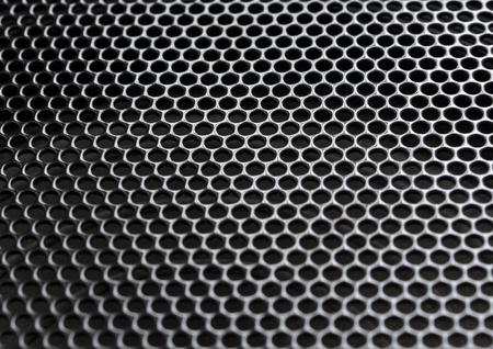 sound system: Metal grill Stock Photo