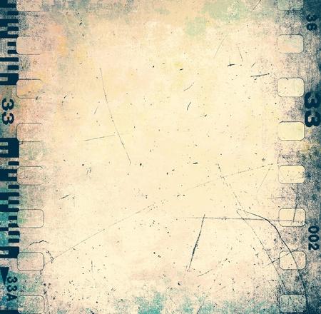 Scratched filmstrip texture