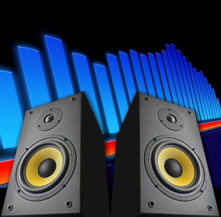 abstract music: Abstracte achtergrond muziek Stockfoto