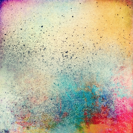 to smear: Grunge splatter paint colorful background