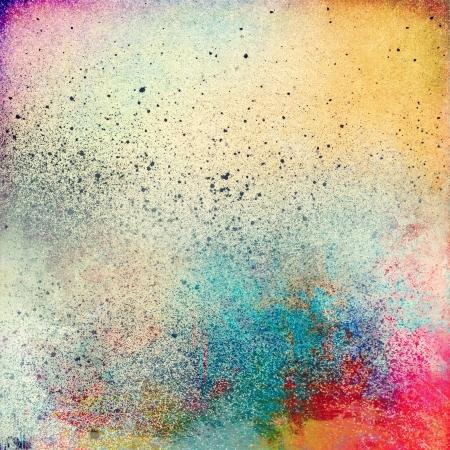 splatter paint: Grunge splatter paint colorful background