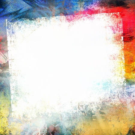 Grunge colorful frame
