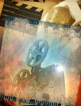 복고풍 영화의 배경 스톡 콘텐츠 - 22034833