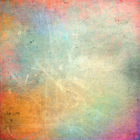 Colorful scratched vintage background photo