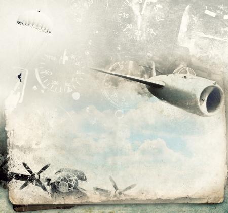 Military background aviation grunge