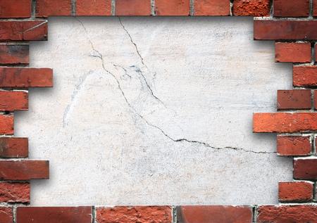 Brick wall frame Stock Photo - 23054350