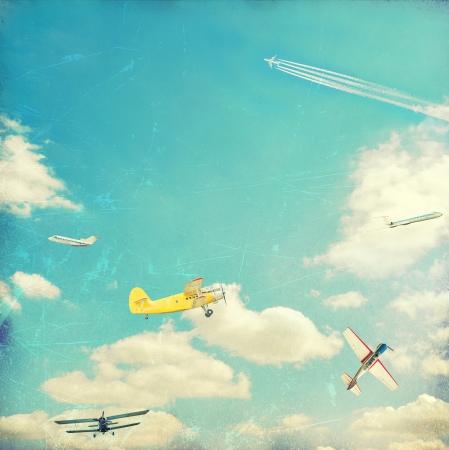 Aviation vintage background Reklamní fotografie