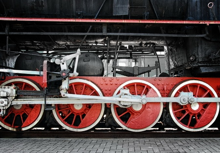 Old steam train photo