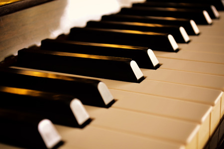 keyboard instrument: Piano close up Stock Photo