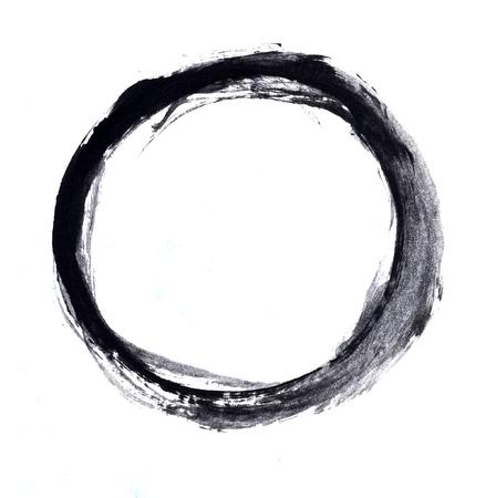 Black paint stroke Standard-Bild