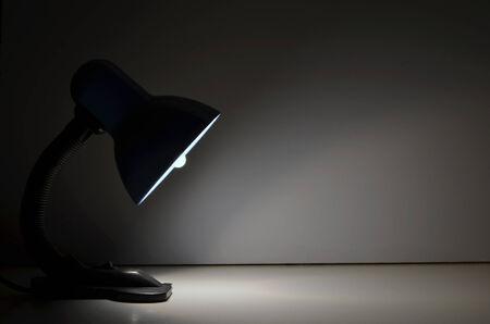 desk work: Lamp light Stock Photo