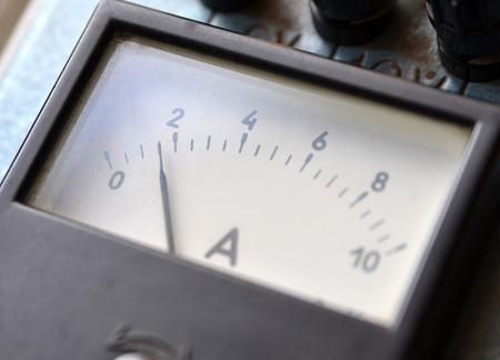 ampere: Ammeter closeup