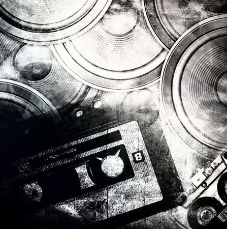 Grunge music background photo
