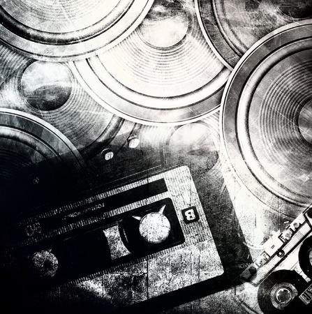 Grunge music background photo