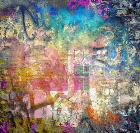 graffiti background: Abstract grunge background