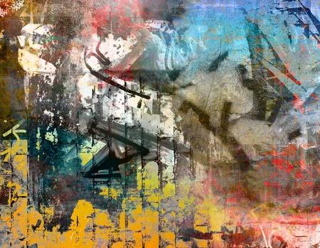 Graffiti wall background photo