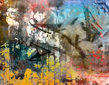 graffiti background: Graffiti wall background