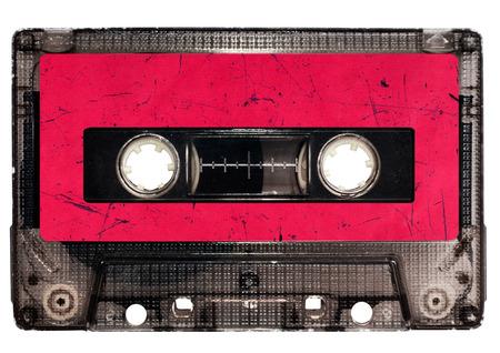 audio cassette: Cassette tape isolated on white Stock Photo