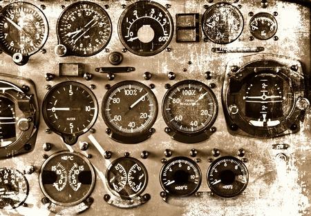 Cockpit detail in grunge style