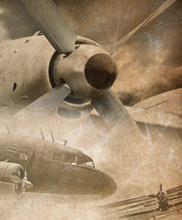 Aviation grunge background