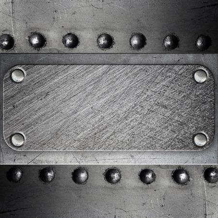 riveted: Riveted metal plate